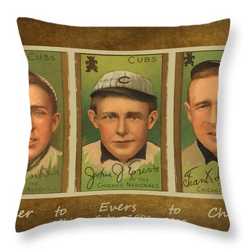 Tinker To Evers To Chance Throw Pillow by Lianne Schneider