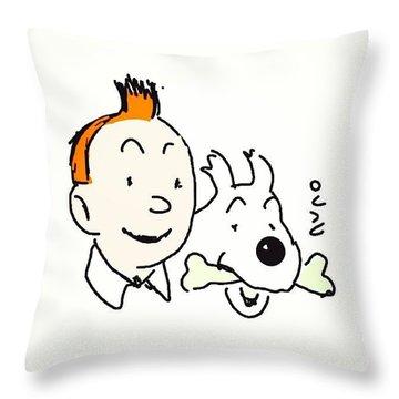 #tintinds #cartoon #caricatures #sketch Throw Pillow