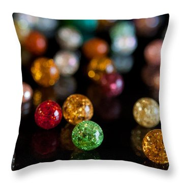 Tiny Crystal Balls Throw Pillow