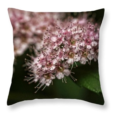 Tiny Flowers Throw Pillow by Michael McGowan
