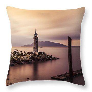 Tiny Lighthouse Throw Pillow