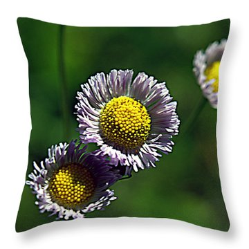 Tiny Little Weed Throw Pillow