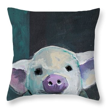 Tiny Pig Throw Pillow