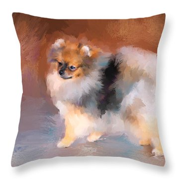 Tiny Pomeranian Throw Pillow