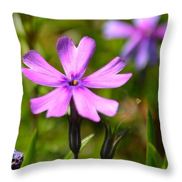 Tiny Purple Flower #1 Throw Pillow