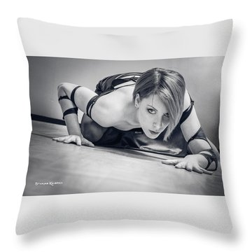 Throw Pillow featuring the photograph Tiphanie Model by Stwayne Keubrick
