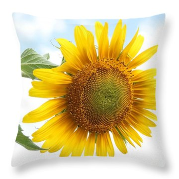 Tipping Over Throw Pillow by Kerri Mortenson