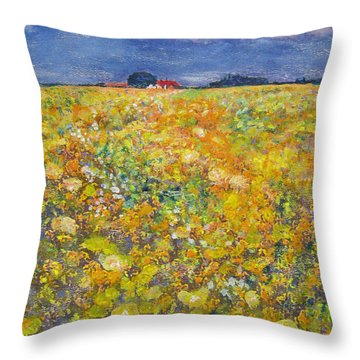 tiptoe Through Summer Meadow Throw Pillow