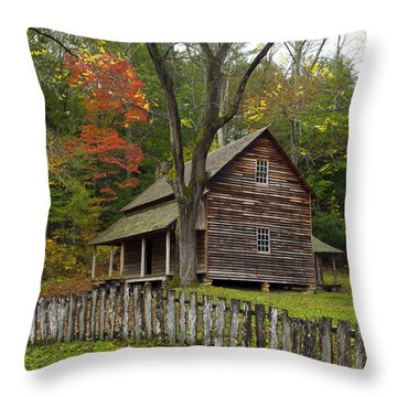 Throw Pillow featuring the photograph Tipton Place by Heather Kenward