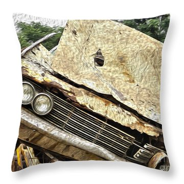 Tired And Broken Throw Pillow