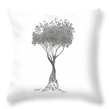 Tired Throw Pillow