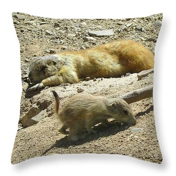 Tired Mom Throw Pillow