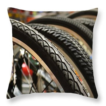 Throw Pillow featuring the photograph Tires by Mary Zeman