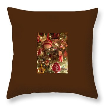 Tis Christmas Throw Pillow by Laurie L