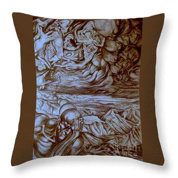 Titan In Desert Throw Pillow by Mikhail Savchenko