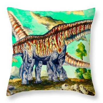 Titanosaurus  Throw Pillow