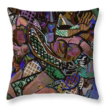 Throw Pillow featuring the digital art Titans by Clyde Semler