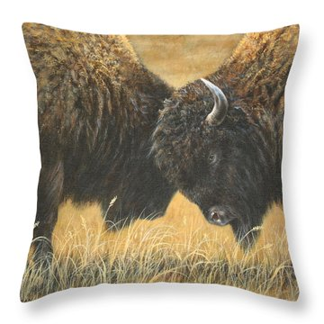 Titans Of The Plains Throw Pillow