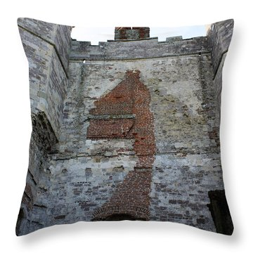 Titchfield Abbey From Within Throw Pillow by Terri Waters