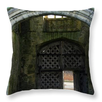 Titchfield Abbey Gatehouse Throw Pillow by Terri Waters