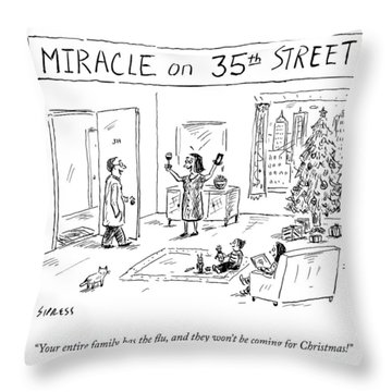 Title: Miracle On 35th Street. A Family Throw Pillow