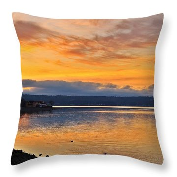 Throw Pillow featuring the photograph Titlow Beach by Lynn Hopwood