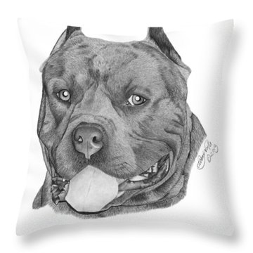 Titus - 024 Throw Pillow by Abbey Noelle