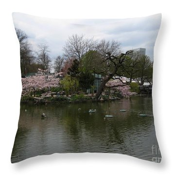 Tivoli Lake Throw Pillow