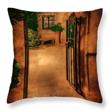 Tlaquepaque Throw Pillow by Priscilla Burgers