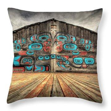 Tlingit Tribal House Haines Alaska Throw Pillow