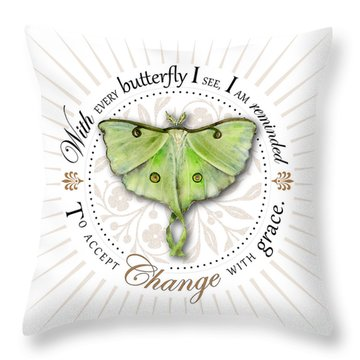 To Accept Change With Grace Throw Pillow by Amy Kirkpatrick