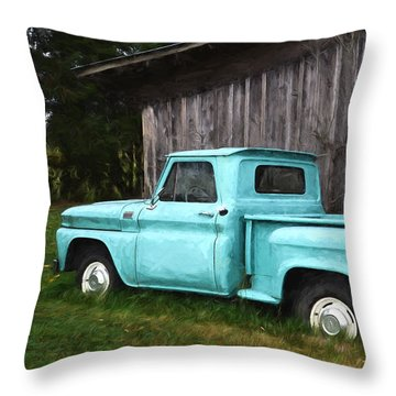 To Be Country - Vintage Vehicle Art Throw Pillow by Jordan Blackstone