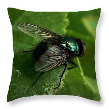 To Be The Fly On The Salad Greens Throw Pillow by Barbara St Jean