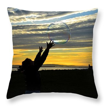 To Catch A Dream Throw Pillow by Kathy King