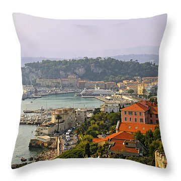To Catch A Thief - Nice France Throw Pillow by Christine Till