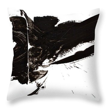 Throw Pillow featuring the painting To Clash To Compromise To Completion   by Cliff Spohn