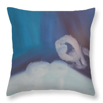 Throw Pillow featuring the painting To Dream by Min Zou