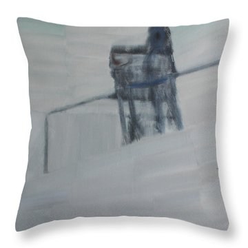 Throw Pillow featuring the painting To Feel The World By Heart by Min Zou
