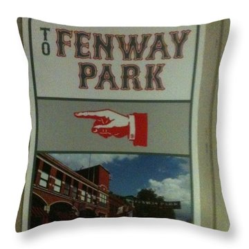 To Fenway Park Throw Pillow