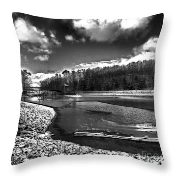 Throw Pillow featuring the photograph To Grand Mother's House by Robert McCubbin