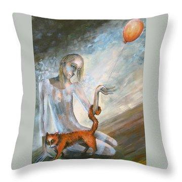 To Hold On The Ground Throw Pillow by Elisheva Nesis