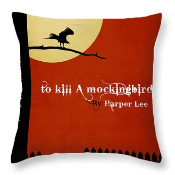 To Kill A Mockingbird Book Cover Movie Poster Art 1 Throw Pillow