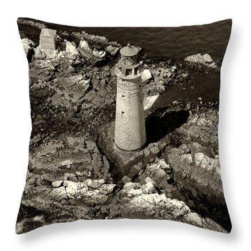 To Light The Graves Black And White Throw Pillow