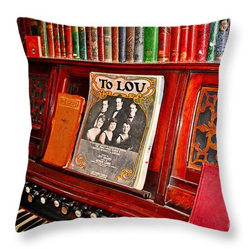 To Lou Throw Pillow