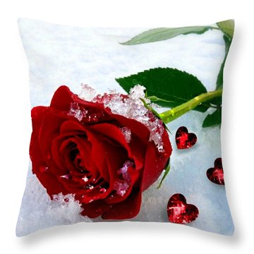 To Make You Feel My Love Throw Pillow by Morag Bates
