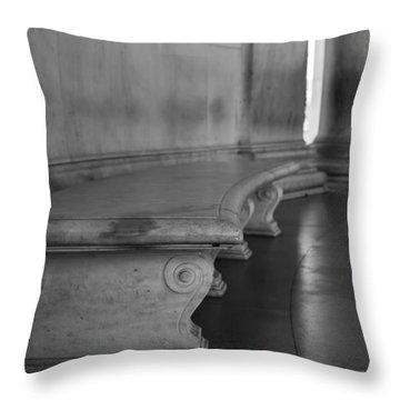 To Quietly Sit And Reflect Throw Pillow by Andrew Pacheco