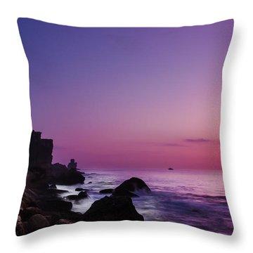 To Reach The Blue Hour Throw Pillow by Edgar Laureano