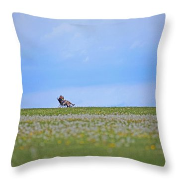 To Relax Throw Pillow by Karol Livote