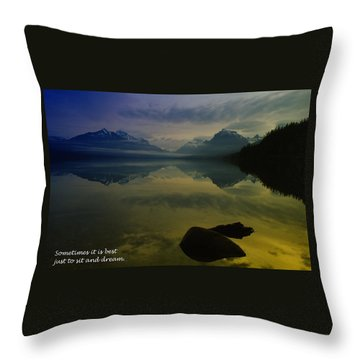 To Sit And Dream Throw Pillow by Jeff Swan