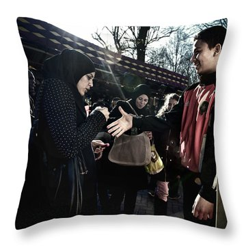 Throw Pillow featuring the photograph To Steal A Shake by Michel Verhoef